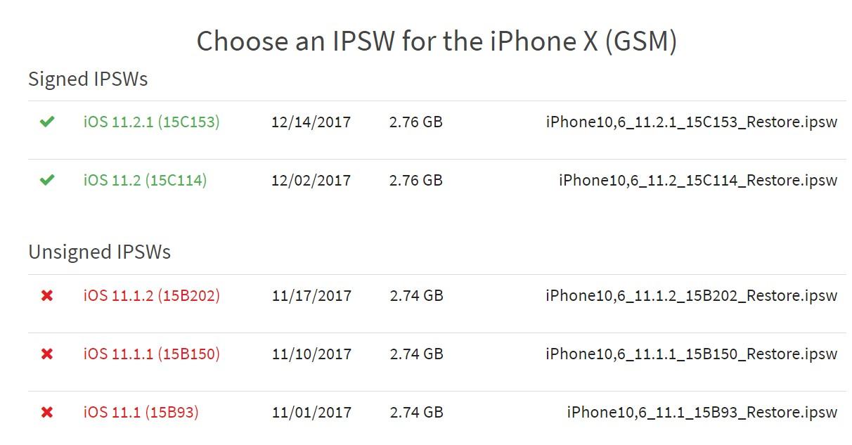 苹果关闭 iOS 11.1.2及以下版本刷机验证