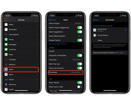 如何更改在 iPhone 上通过 Safari 浏览器下载文件的位置?