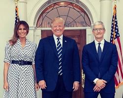 特朗普与库克共进晚餐:盛赞苹果为「美国再次伟大」作出的贡献