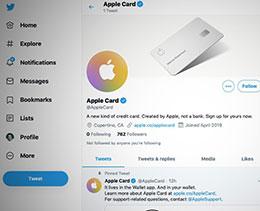 苹果为 Apple Card 开设 Twitter 社交网络账号