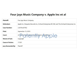 多家音乐公司起诉苹果,称其与第三方合作分发未经授权的音乐作品