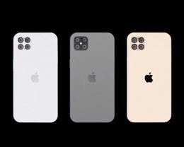 iPhone 12 Pro 概念渲染:后置四摄像头、无「刘海」