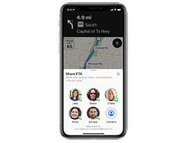 iOS 13 地图新功能:与好友共享到达目的地的时间