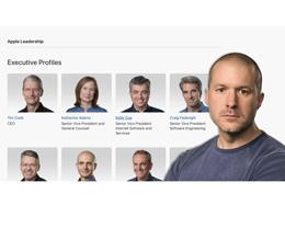 Jony Ive 正式离开,苹果公司领导者页面已除名