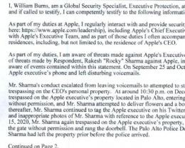 两次私闯库克住所,苹果对 42 岁骚扰者申请临时限制令