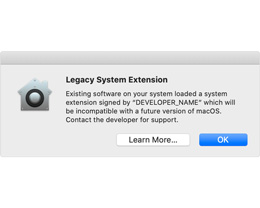 macOS Catalina 正逐步淘汰旧版系统扩展