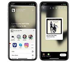 iOS 13.4.5 新功能:可将 Apple Music 分享至 Instagram