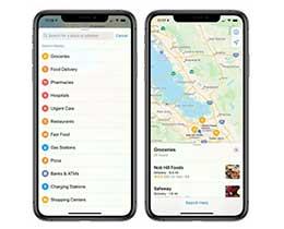 苹果更新地图搜索功能:重点关注超市、食品快递、药店和医院