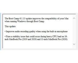 苹果 Boot Camp 更新曝光未发布的 16 英寸新 MacBook Pro