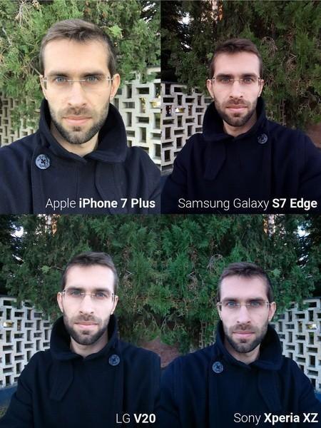旗舰手机自拍对比: iphone 7 plus表现突出