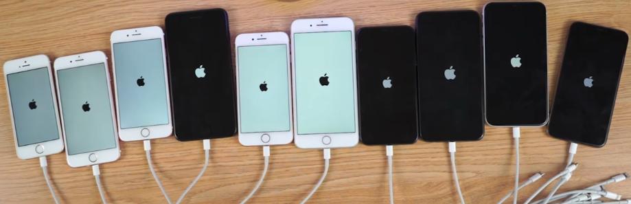 各机型升级iOS13测试版后开机速度对比