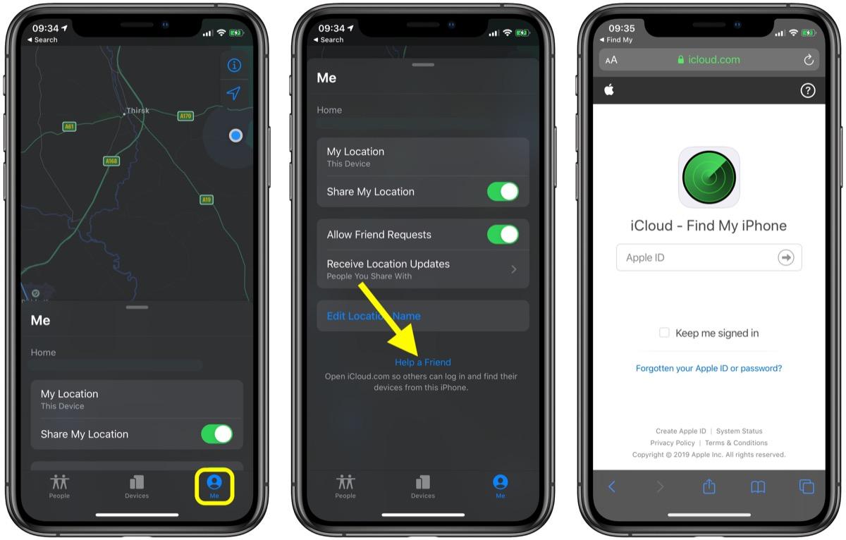 如何通过朋友的 iPhone 使用「查找」应用定位自己丢失的设备?