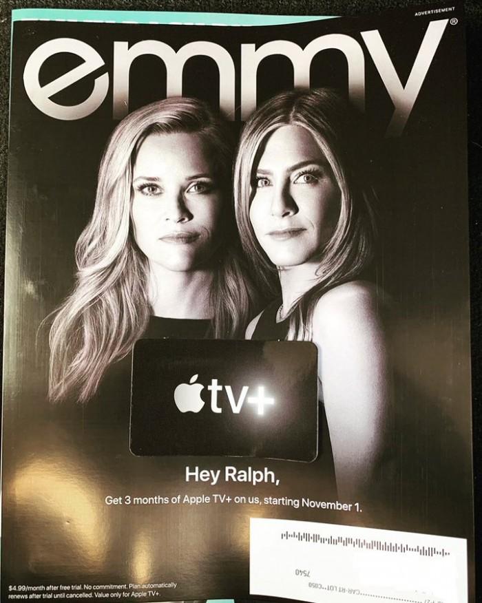 苹果通过「Emmy」杂志宣传原创剧集,提供 3 个月免费试看