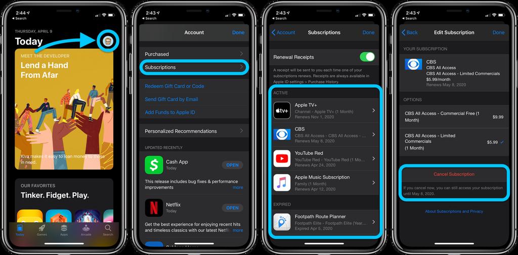 如何在 iPhone 或 iPad 上取消订阅服务和免费试用?