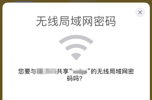 iPhone XR如何取消共享无线密码弹窗?