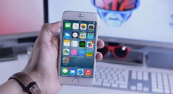 视频:苹果iPhone6用上iOS8