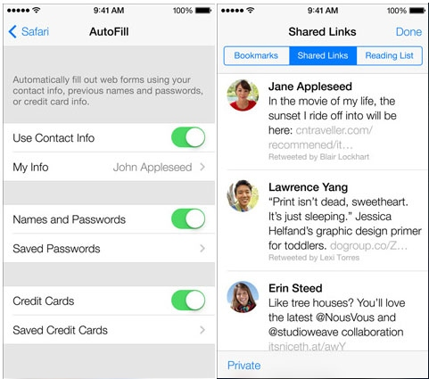 iOS 7增强版Safari浏览器