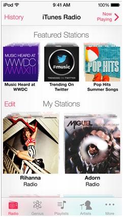 全新流媒体服务iTunes Radio