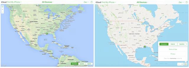网页版查找iPhone启用苹果地图 谷歌遭弃
