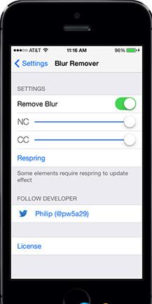 iOS7磨砂设计效果换成透明效果