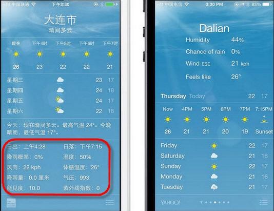 iOS8全新功能:更贴心的天气APP