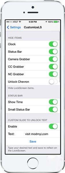 iOS7.1.2越狱插件推荐:自定义锁屏界面CustomizeLS