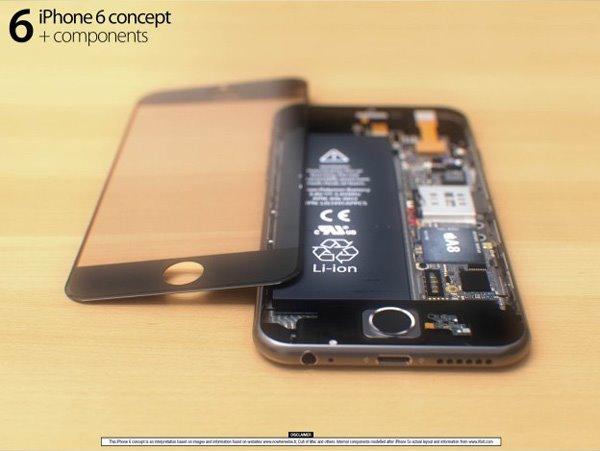 苹果iPhone6惊艳3D渲染图