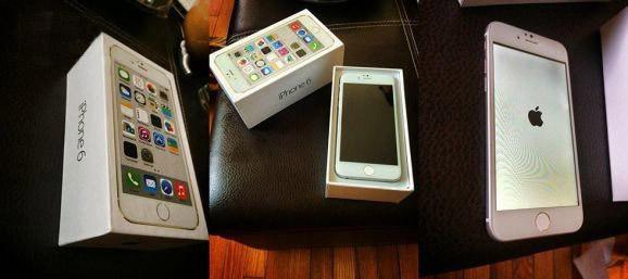 包装盒里的苹果iPhone6