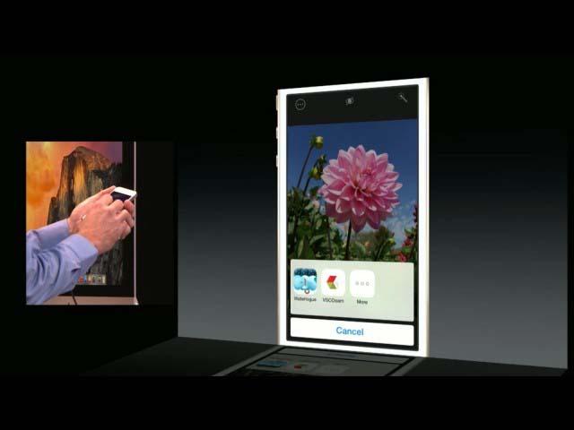 iOS 8 全新特性应用间照片编辑