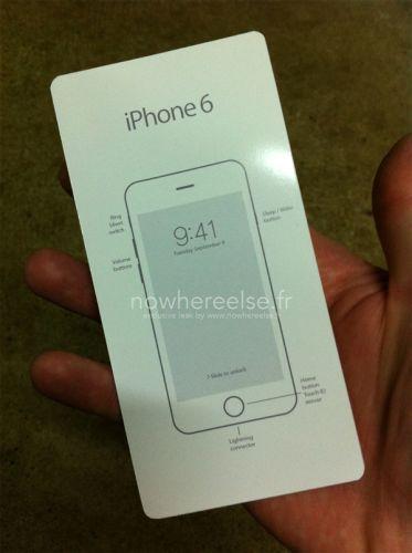 疑似iPhone 6内包装曝光 9月9日发布?
