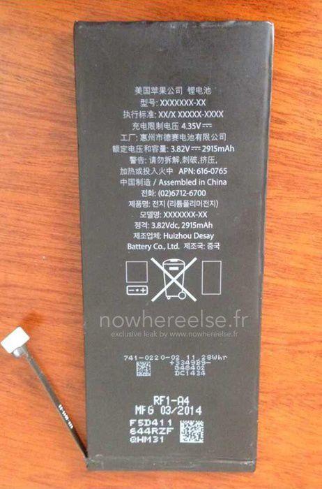 曝光5.5英寸iPhone6电池:是5S两倍