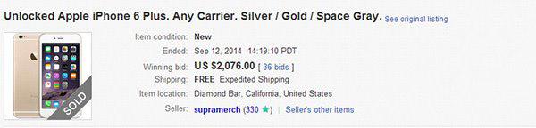 苹果iPhone6 Plus无锁版被炒至上万元