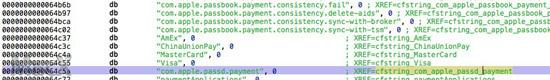 iOS8代码泄露Apple Pay将与中国银联合作