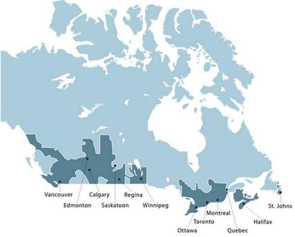 """苹果地图闹笑话:加拿大举国""""大搬迁"""""""
