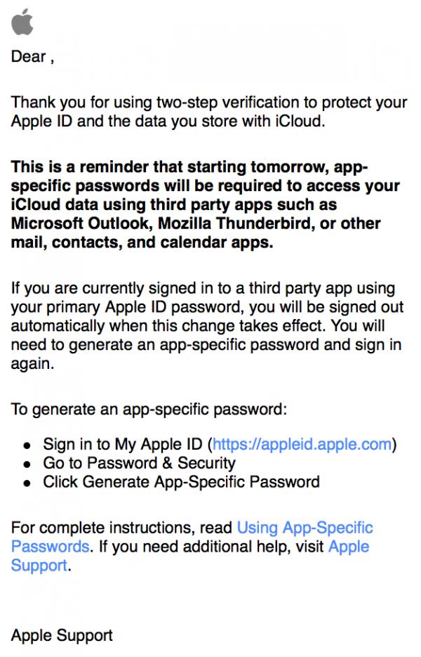 苹果 iCloud登录将启用两步验证机制