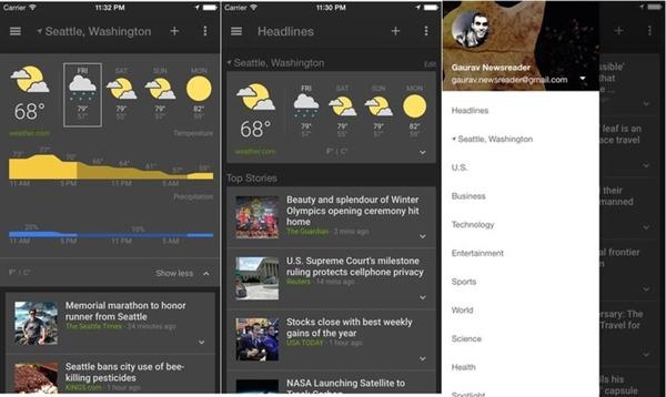 iOS也可以用Google的新闻和天气应用了