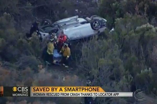 """""""寻找我的iPhone""""寻回了车祸受伤的女伤者"""