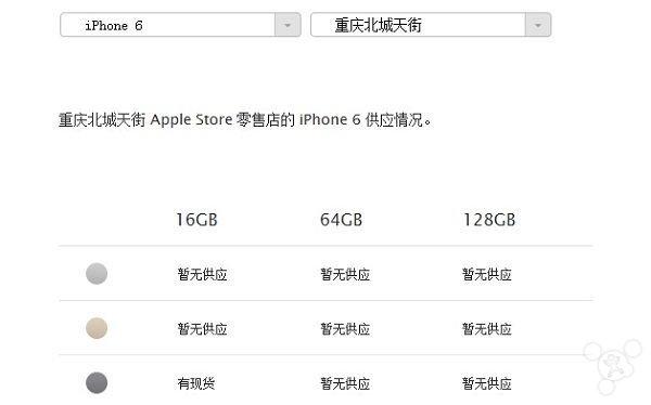 国行iPhone6供应紧俏:只剩16GB