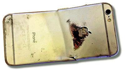iPhone 6坐弯起火烧伤用户大腿