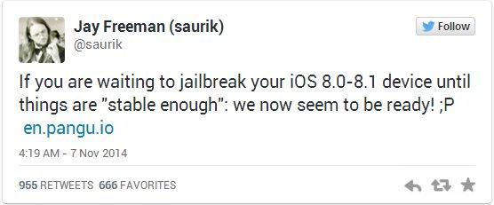 盘古iOS8.0完美越狱已经很稳定