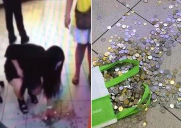 女子买iPhone6被坑,退款18斤硬币