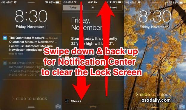 如何快速清除苹果 iPhone、iPad 锁屏界面上的所有推送通知?