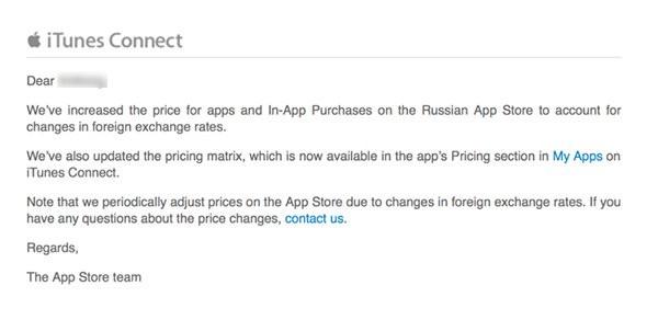 被逼无奈,苹果俄罗斯商店再提价