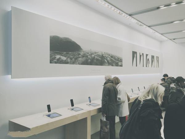 全球Apple Store 变身为艺术画廊