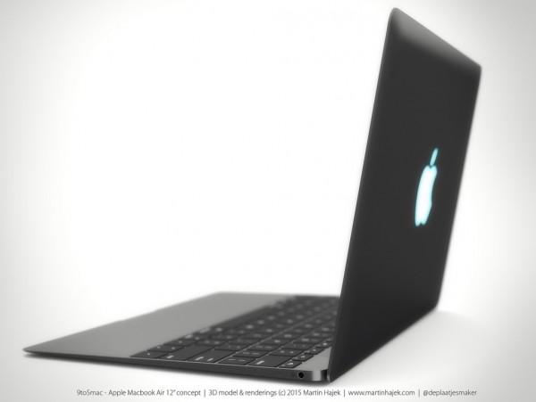 传言中12寸MacBookAir3D渲染欣赏