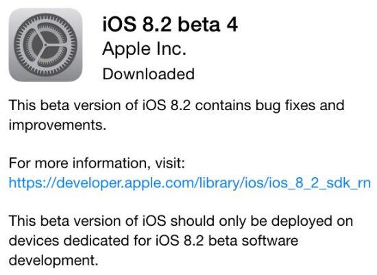 好事多磨苹果发布iOS 8.2第四个测试版