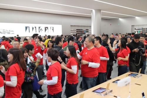 又一家苹果零售店今日在华开业