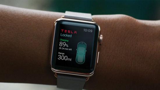 特斯拉Apple Watch应用亮相:可控制车锁空调