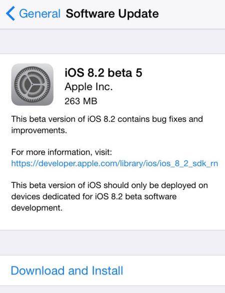 苹果发布iOS 8.2 Beta5:修正日历时区错误