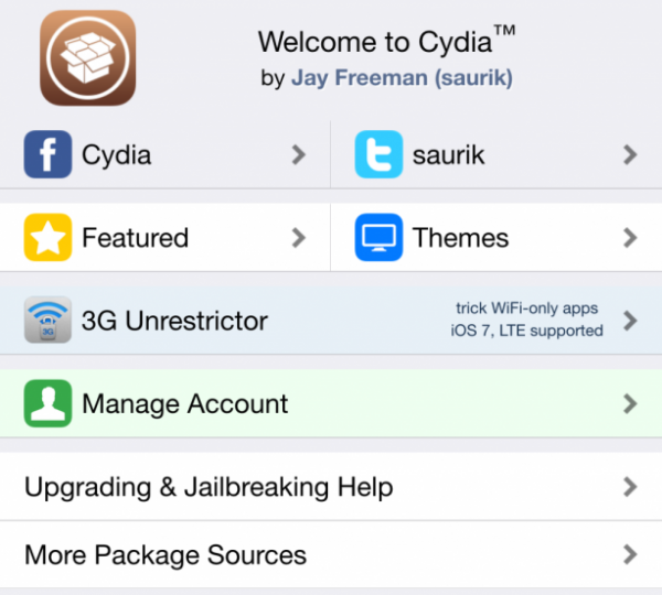 Cydia界面风格已经更新 – 更扁更平